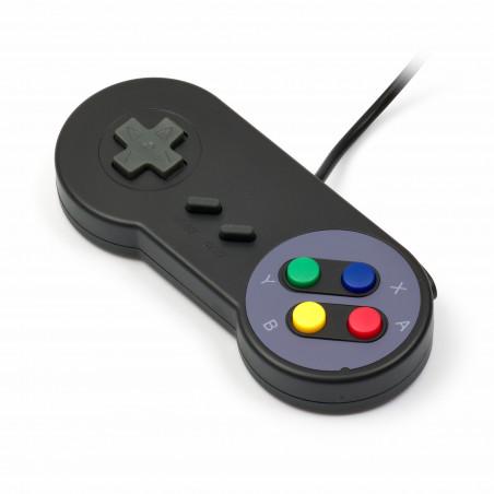 USB SNES Gamepad (retro), černá