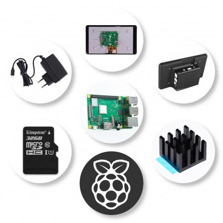 "Raspberry Pi 7"" Touch Display sada - 3B+, 32GB,  3A"