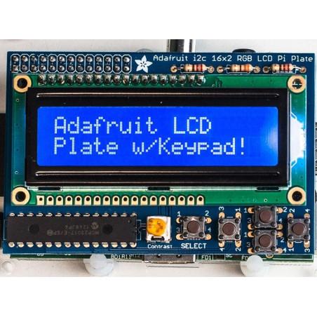 Adafruit Blue&White 16x2 LCD displej + Keypad Kit pro Raspberry Pi
