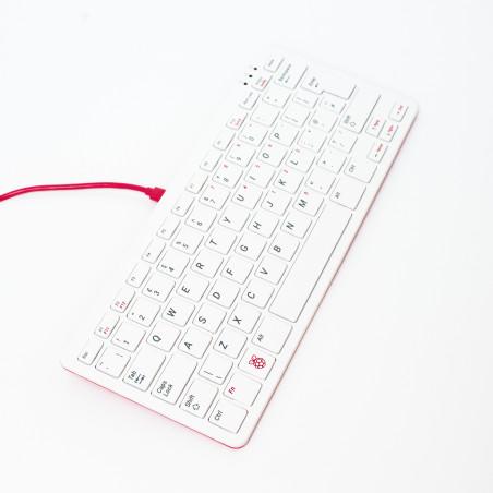 Raspberry Pi klávesnice, UK, malinová/bílá