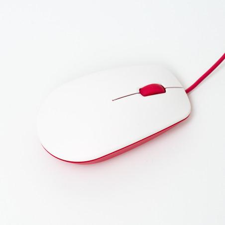 Raspberry Pi myš, malinová/bílá