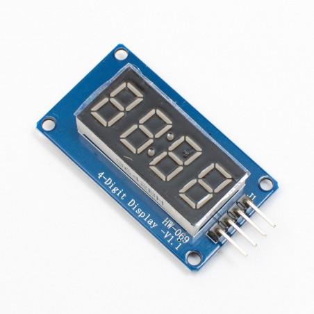 Hodinový LED displej, sedmisegmentový, červené diody, 4místný