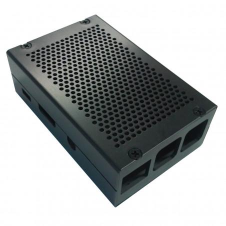 Frézovaná hliníková krabička, černá