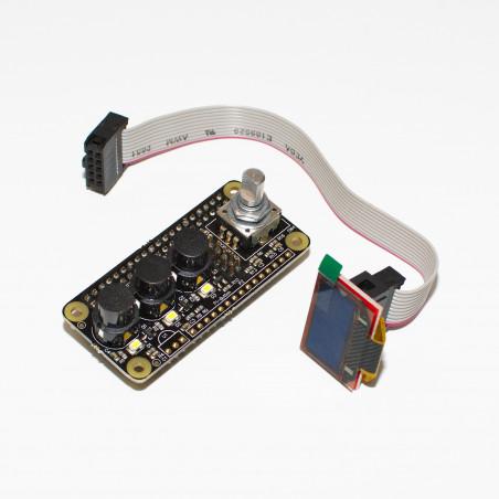 IQaudIO Cosmic Controller kit s OLED displejem, předpájený