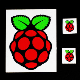 Samolepka s logem Raspberry Pi