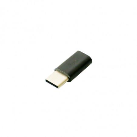 microUSB - USB C adaptér, černý