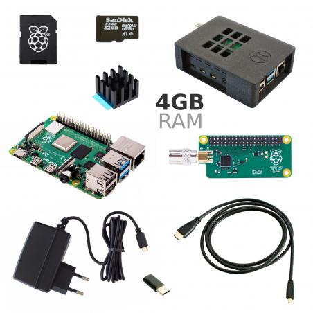 Zonepi Raspberry Pi 4B/4GB + TV HAT sada, galaxy