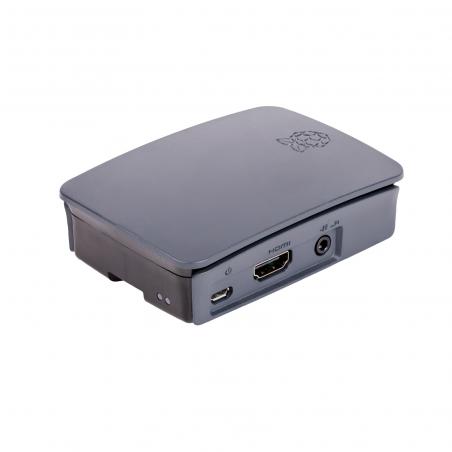 Raspberry Pi 3B+ multimediální centrum, černé/šedé