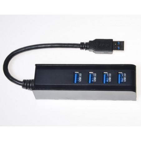 PremiumCord 4portový USB 3.0 Superspeed HUB
