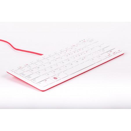 Raspberry Pi klávesnice, US, malinová/bílá