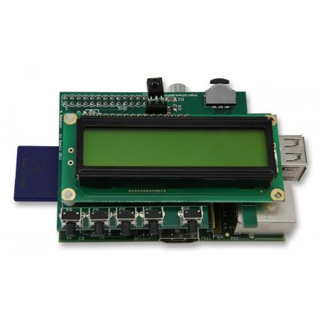 Rozbalený PiFace CAD 1 - ovládání a displej