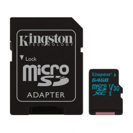NOOBS + 64GB Kingston Canvas Go microSDXC V30 UHS-I U3 SDCG2/64GB