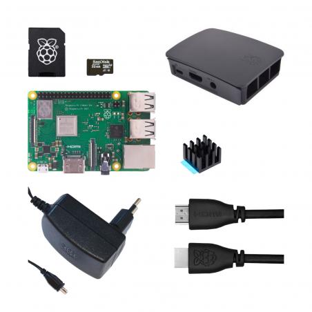 Oficiální Raspberry Pi 3B+/1GB sada, černá