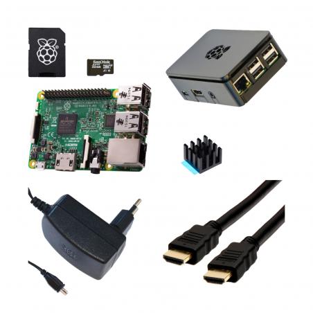Designspark Raspberry Pi 3B/1GB sada, černá