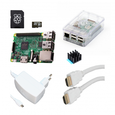 Designspark Raspberry Pi 3B/1GB sada, průhledná