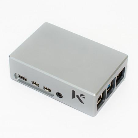 KKSB prémiová hliníková krabička pro Raspberry Pi 4 s pasivním chladičem, šedá