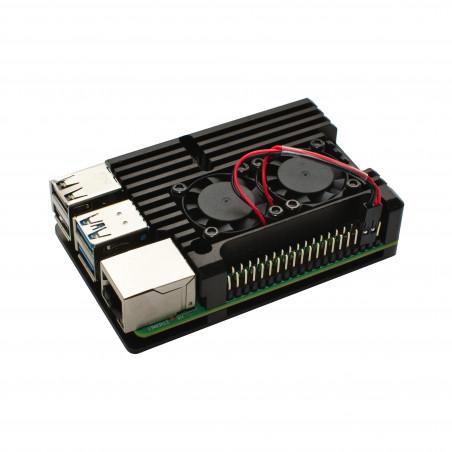 Chladicí sada s větráky pro Raspberry Pi 4B, černá