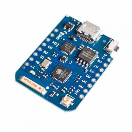 WeMos D1 Mini, WiFi modul na ESP8266, s konektorem pro externí anténu