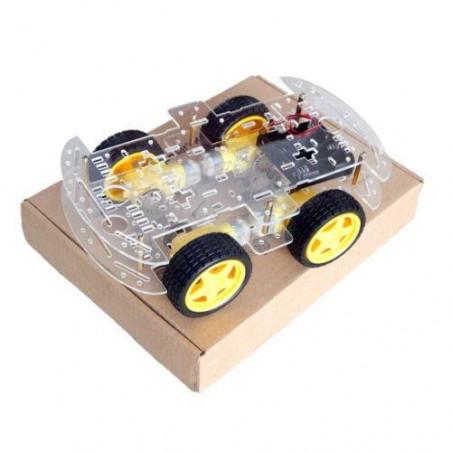 Podvozek, kola a motory pro sestavení vlastního robota, 4WD