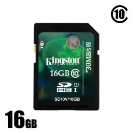 Použitá 16GB SDHC karta...
