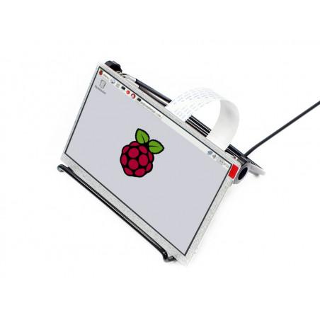 """Rozbalený Waveshare 7"""" LCD displej, 1024x600, IPS, DPI, stojánek"""