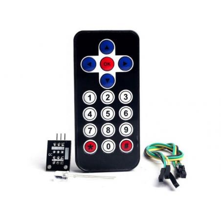 Dálkové infračervené ovládání s přijímačem, HX1838