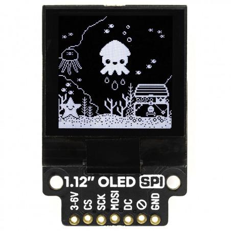 "Pimoroni 1.12"" Mono OLED displej, I2C, 128x128, bílá/černá, breakout modul"