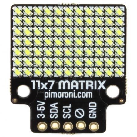 Pimoroni 11x7 LED matice, breakout modul