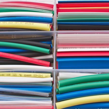 Smršťovací bužírky, barevné, 9cm, různé průměry