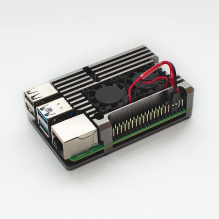 Chladicí sada s větráky pro Raspberry Pi 4B, stříbrná
