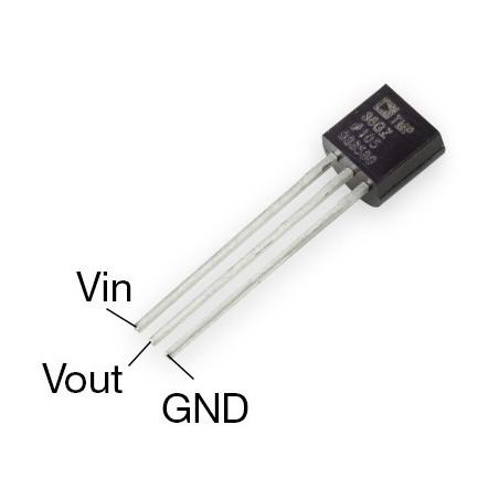 Analogový teplotní senzor TMP36