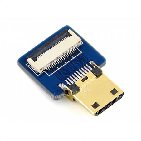 Waveshare mini HDMI adaptér pro DIY HDMI kabel, rovný