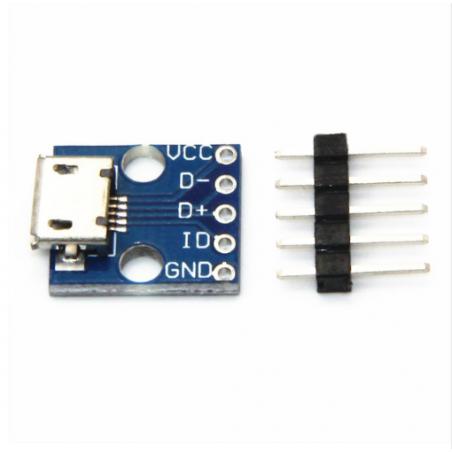 5V napájecí modul s microUSB konektorem do nepájivého pole