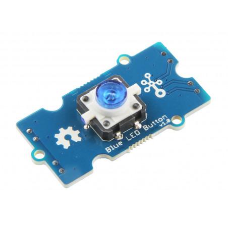 Grove - Modré LED tlačítko