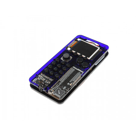MAKERphone Ringo, DIY mobilní telefon, průhledný modrý