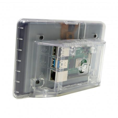 """Multicomp krabička pro oficiální 7"""" dotykový displej a RPi 4B, průhledná"""