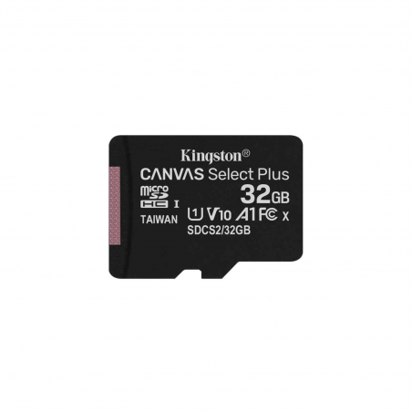 Kingston Canvas Select Plus 32GB microSDHC UHS-I U1 V10 A1 SDCS2/32GBSP - SW: NOOBS