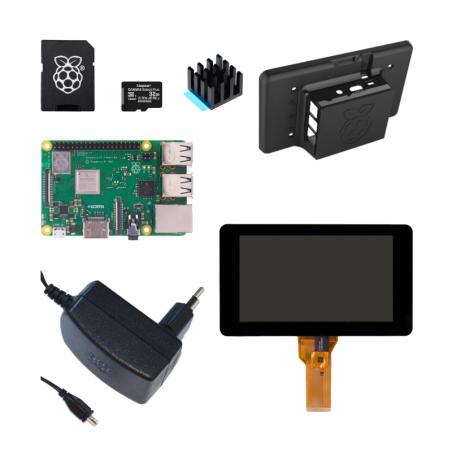 """Raspberry Pi 3B+/1GB sada - 7"""" dotykový displej, černá"""