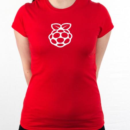 Raspberry Pi dámské tričko červené
