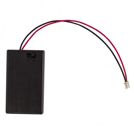Box na 3x AAA baterie s JST konektorem a vypínačem