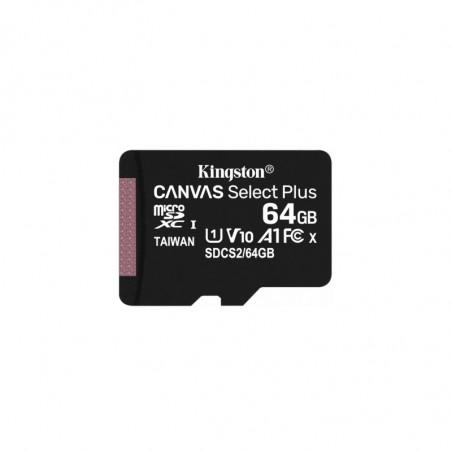 Kingston 64GB micSDXC Canvas Select Plus 100R A1 C10 karta bez ADP