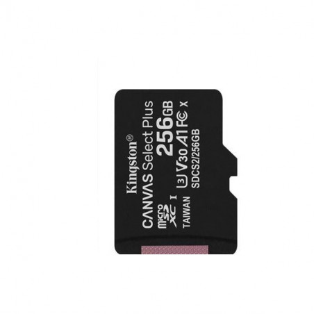 Kingston Canvas Select Plus 256GB microSDHC Class 10 UHS-I U3 V30 A1 SDCS2/256GB  - SW: NOOBS