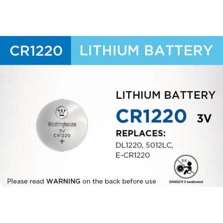 Westinghouse lithiová knoflíková 3V baterie CR1220