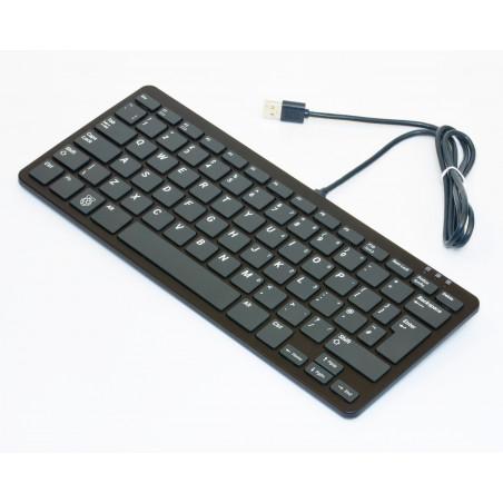 Rozbalená Raspberry Pi klávesnice, UK, černá/šedá