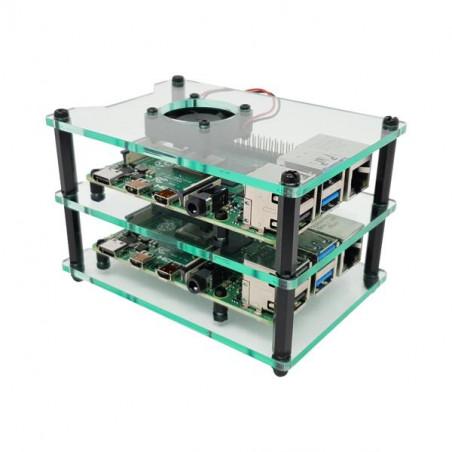 Cluster Case s ventilátory pro Raspberry Pi