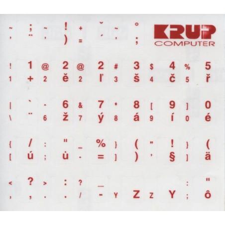 Česká přelepka na klávesnici - červená