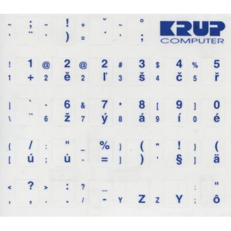 Česká přelepka na klávesnici - modrá