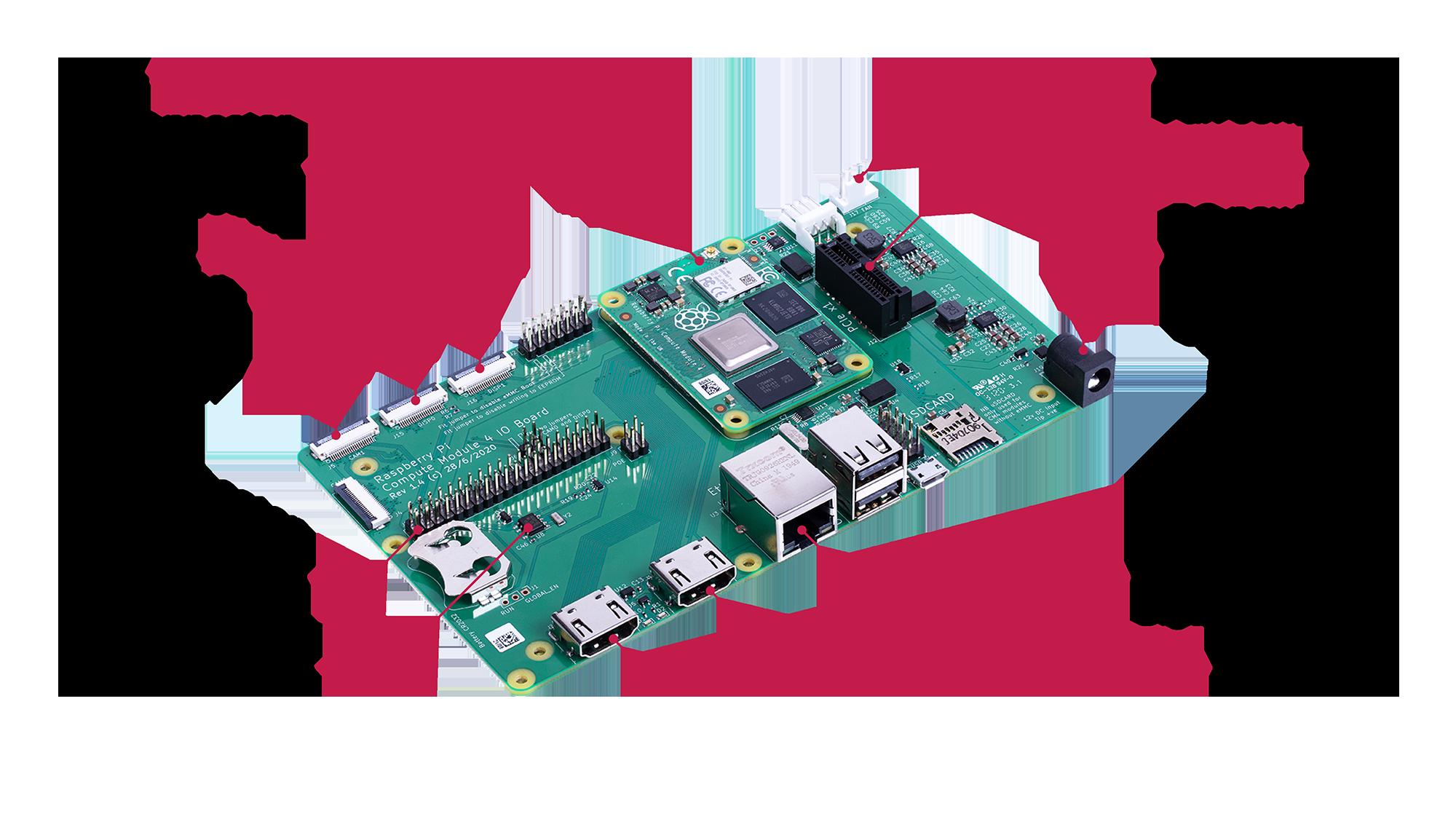 Raspberry Pi CM4 IO Board diagram